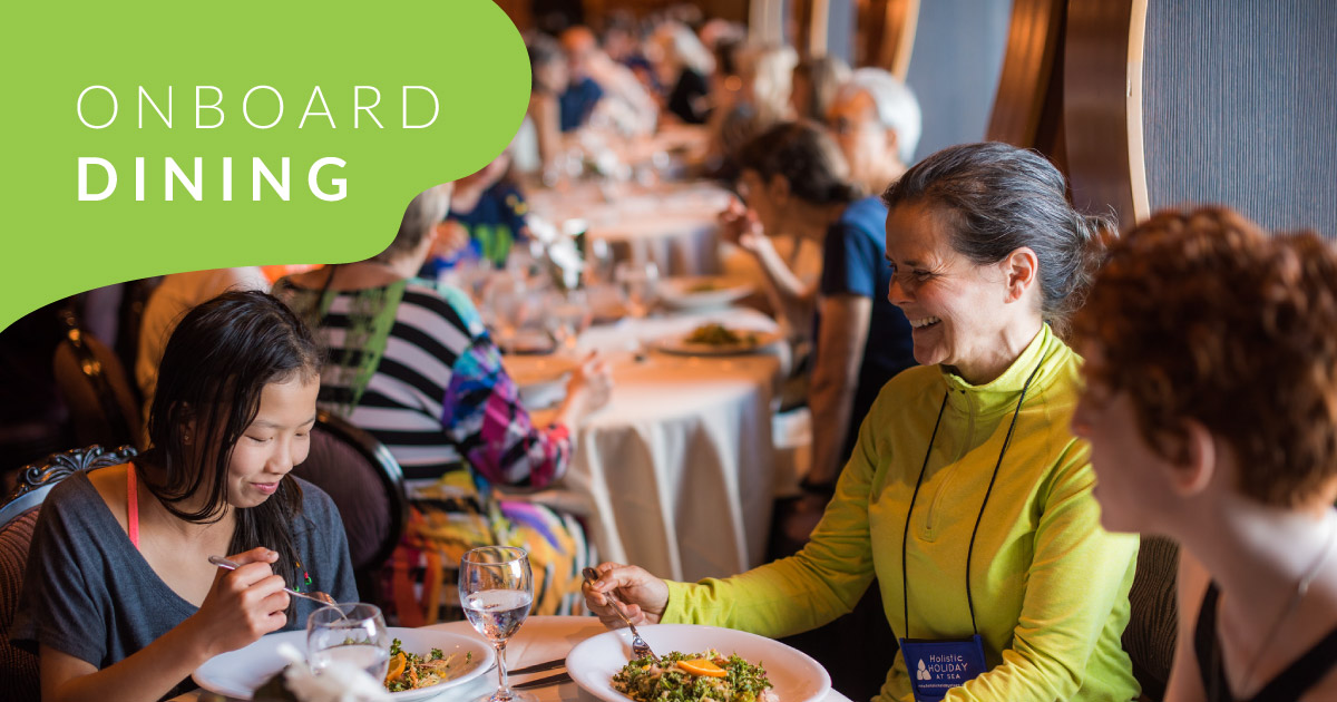 Dining Aboard the HHAS Vegan Cruise