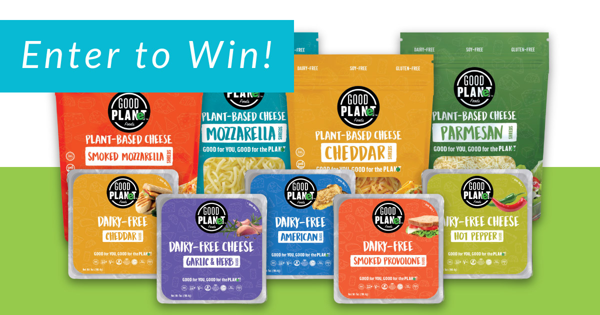 Plant-based Cheese Giveaway Sponsored By GOOD PLANeT Foods